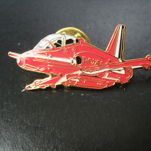 Red Arrows Hawk Side View Banking Pin Badge
