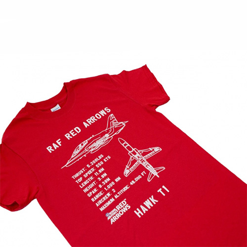 Red Arrows Hawk T1 Plan T-shirt 1