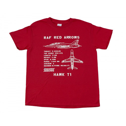 Red Arrows Hawk T1 Plan T-shirt 2