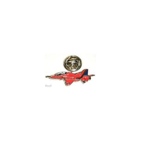 Small Red Arrows Hawk Side View Pin Badge