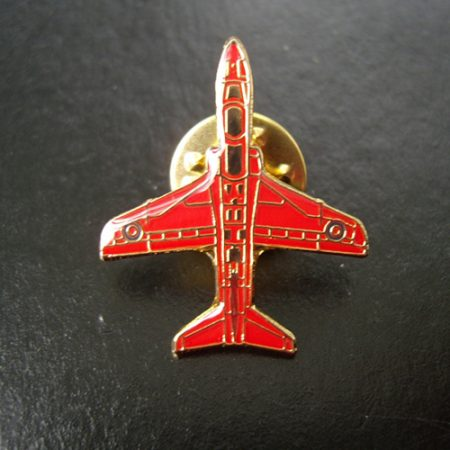 Small Red Arrows Hawk (plan View) Pin Badge