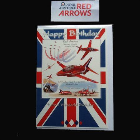 Red Arrows Birthday Card