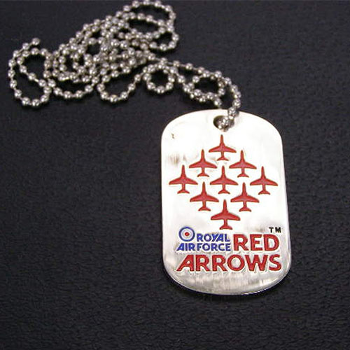 Red Arrows Enamel Dog Tag With Chain