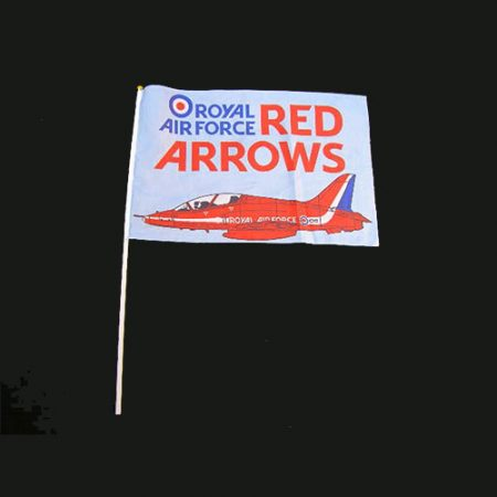 Red Arrows Hand Held Flag