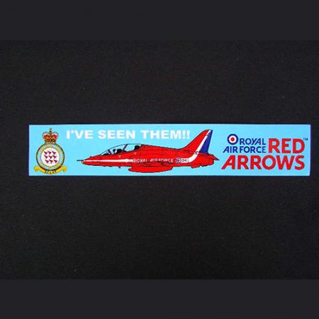 Red Arrows I've Seen Them_ Sticker