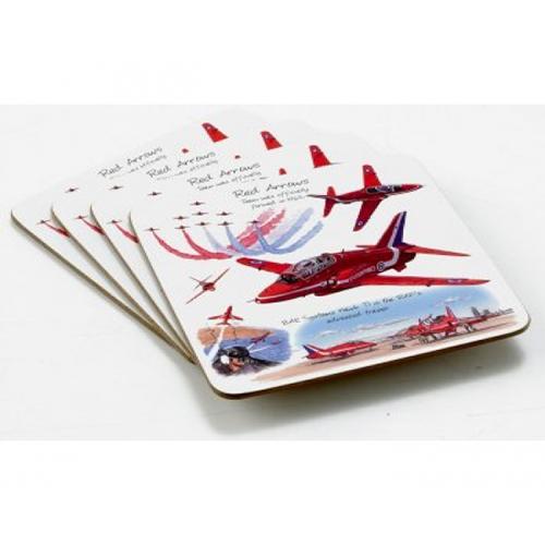 Red Arrows Pk 4 Coasters