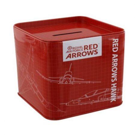 Red Arrows Tin Money Box