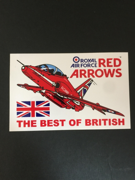 Red Arrows Hawk Car Sticker