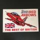 Red Arrows Hawk Car Sticker