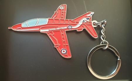 Enamel Metal Hawk Keyring (Large)