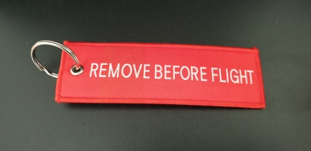 Red Arrows Embroidered Remove Before Flight Keyring 2