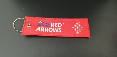 Red Arrows Embroidered Remove Before Flight Keyring