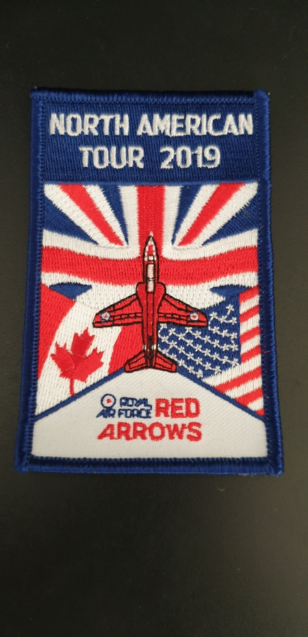 Red Arrows North American Tour 2019 Patch