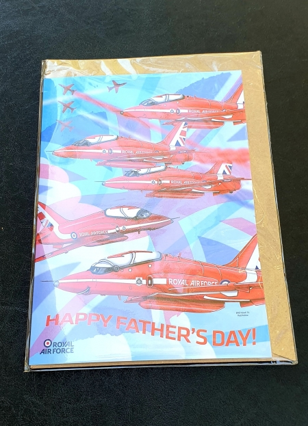 Red Arrows Fathers Day Card