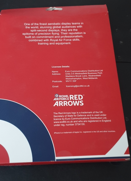 Red Arrows Universal Tablet Cover (back)