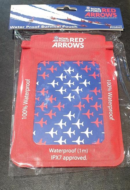 Red Arrows Waterproof Survival Pouch