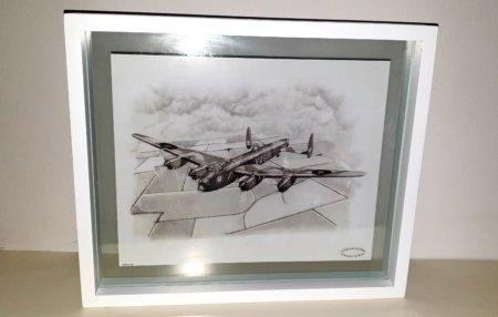 Glass Framed Lancaster Bomber Print