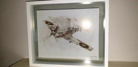 Glass Framed Spitfire Print