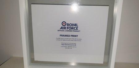 Glass Framed Spitfire Print (Back)
