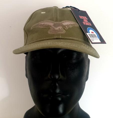 Khaki RAF Wings Baseball Cap