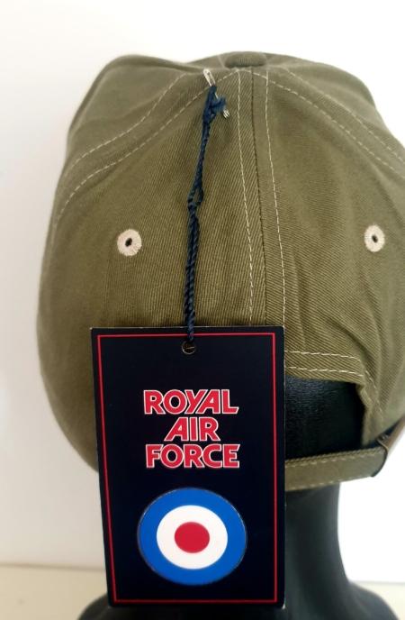 Khaki RAF Wings Baseball Cap (Back)