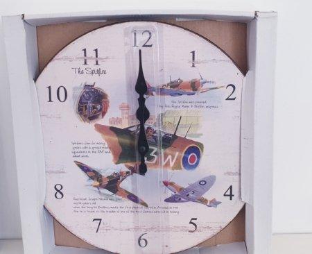 Spitfire Wooden Wall Clock