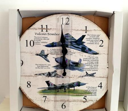 Vulcan Bomber Wooden Wall Clock