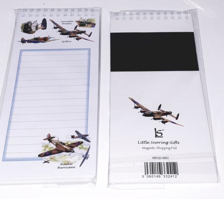 Battle of Britain Lancaster Spitfire Hurricane Magnetic Note Pad