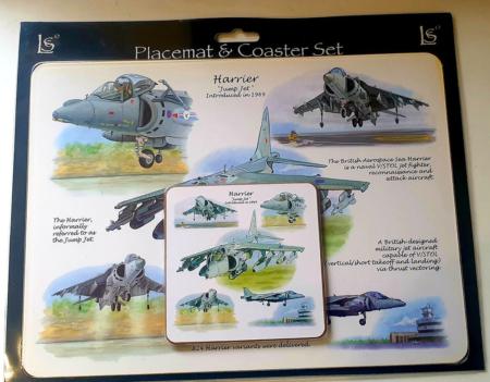 Harrier Placemat & Coaster Set
