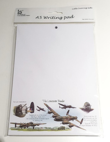 Lancaster Bomber A5 Writing Pad