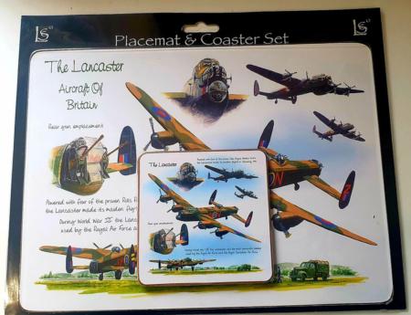 Lancaster Bomber Placemat & Coaster Set