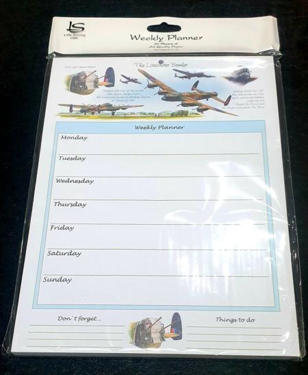 Lancaster Bomber Weekly Planner