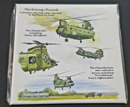 RAF Chinook Typhoon Metal Magnet