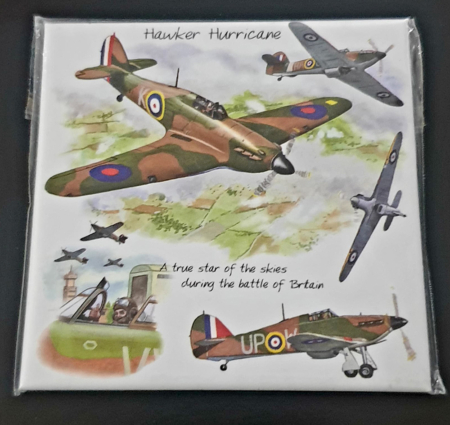 RAF Hurricane Metal Magnet