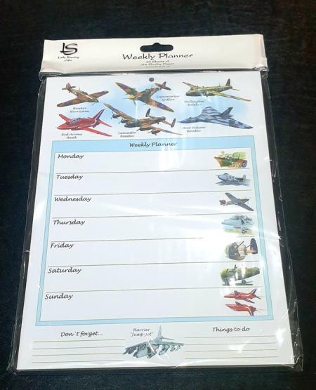 RAF Planes Weekly Planner