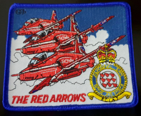 RAF Red Arrows 3 Plane & Crest Embrodered Patch