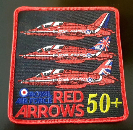 RAF Red Arrows 50th Display Season Embrodered Patch