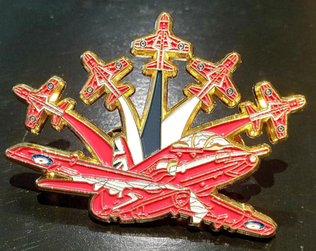 RAF Red Arrows 6 Hawk Pin Badge