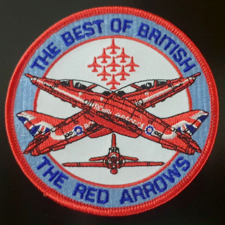 RAF Red Arrows Best of British Embroidered Patch