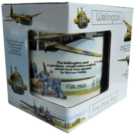 RAF Wellington Bomber Bone China Mug Set