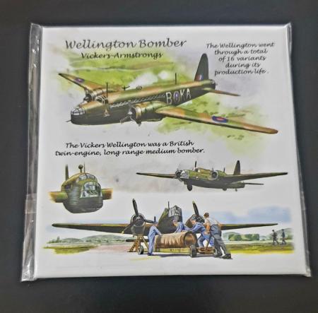 RAF Wellington Bomber Metal Magnet