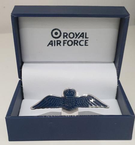 RAF Wings Pin Badge Boxed