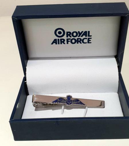 RAF Wings Tie Slide Boxed
