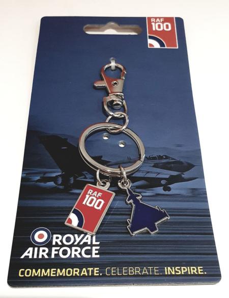 RAF100 Logo & Eurofighter Typhoon Keyring