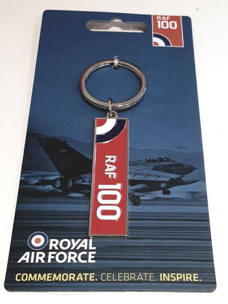 RAF100 Logo Keyring