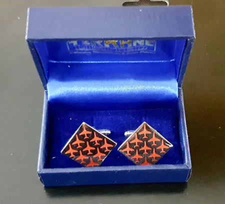 Red Arrows Diamond 9 Boxed Cufflinks