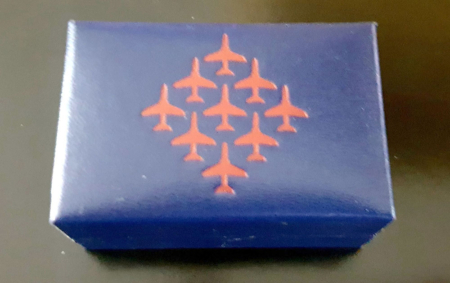 Red Arrows Diamond 9 Boxed Cufflinks (Closed)