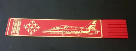 Red Arrows Hawk Leather Bookmark