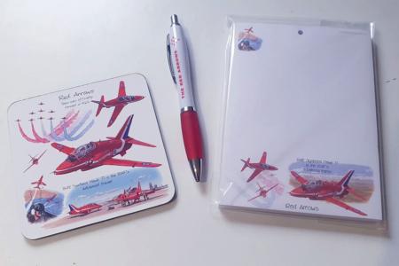 Red Arrows Pen Coaster & Pad Set
