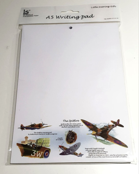 Spitfire A5 Writing Pad